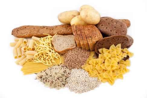 rijst aardappelen pasta brood