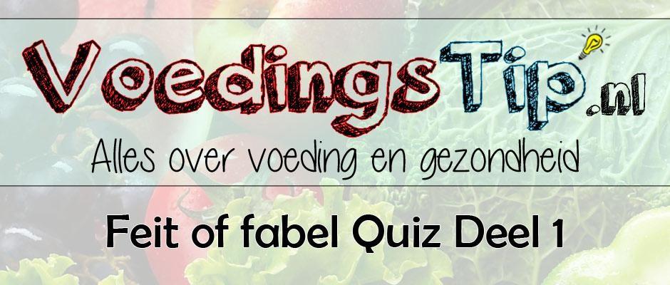 Feit of fabel Quiz deel 1